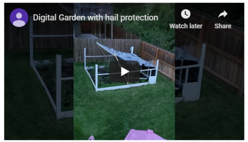 Digital Garden with Hail Protection