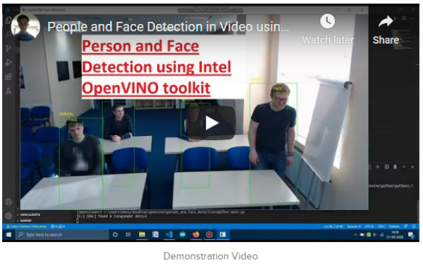 Person and Face Detection using Intel OpenVINO toolkit