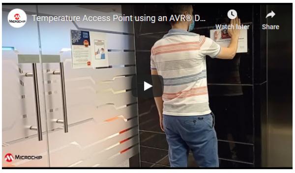Temperature Access Point Using an AVR® DA Microcontroller