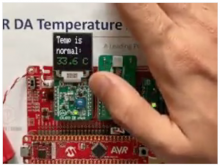 Temperature Access Point Using an AVR® DA Microcontroller