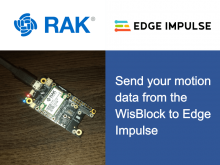 Send Your Motion Data From WisBlock to Edge Impulse
